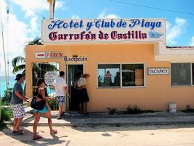 Hotel and Club in  Playa Mujers with an image of the bottled water [garafon] of Castilla, Mexico – Best Places In The World To Retire – International Living